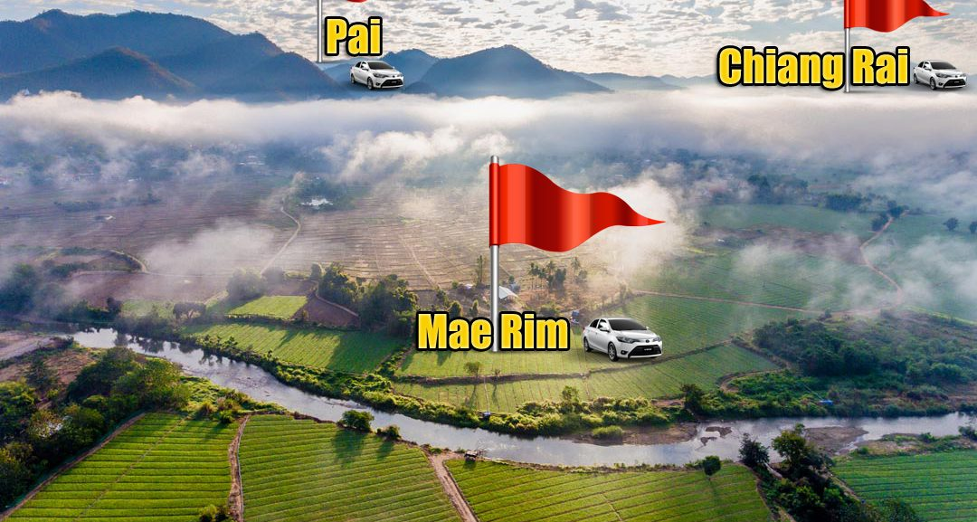 rent a car at Mae Rim, Chiang Rai and Pai