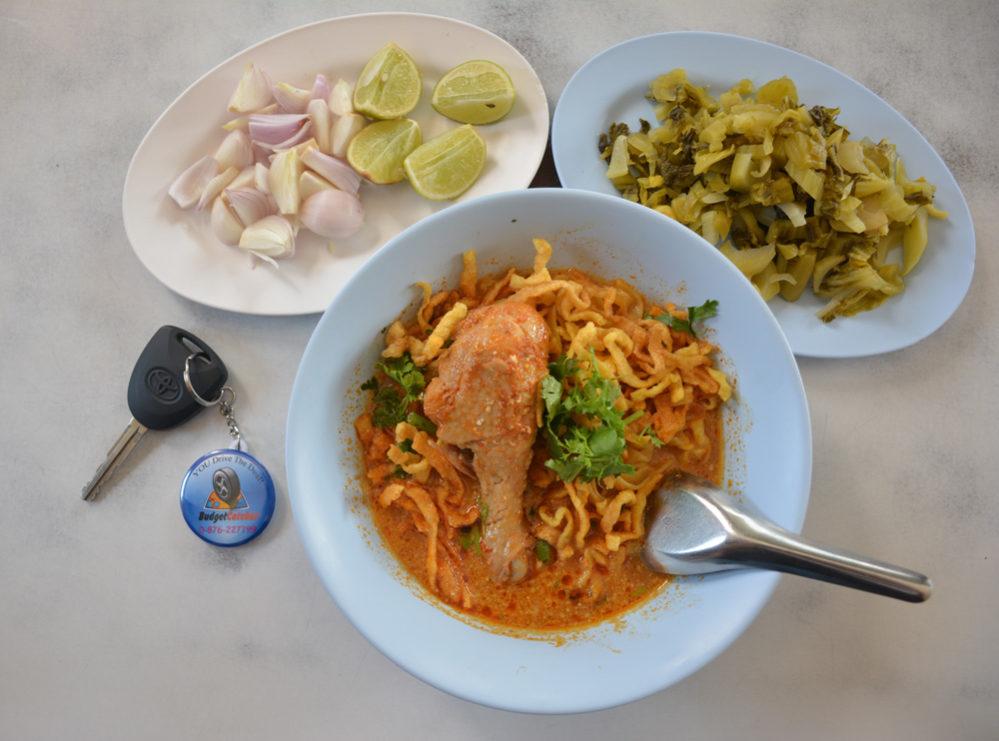 Khao Soi the most famous Chiang Mai Noodle Dish.