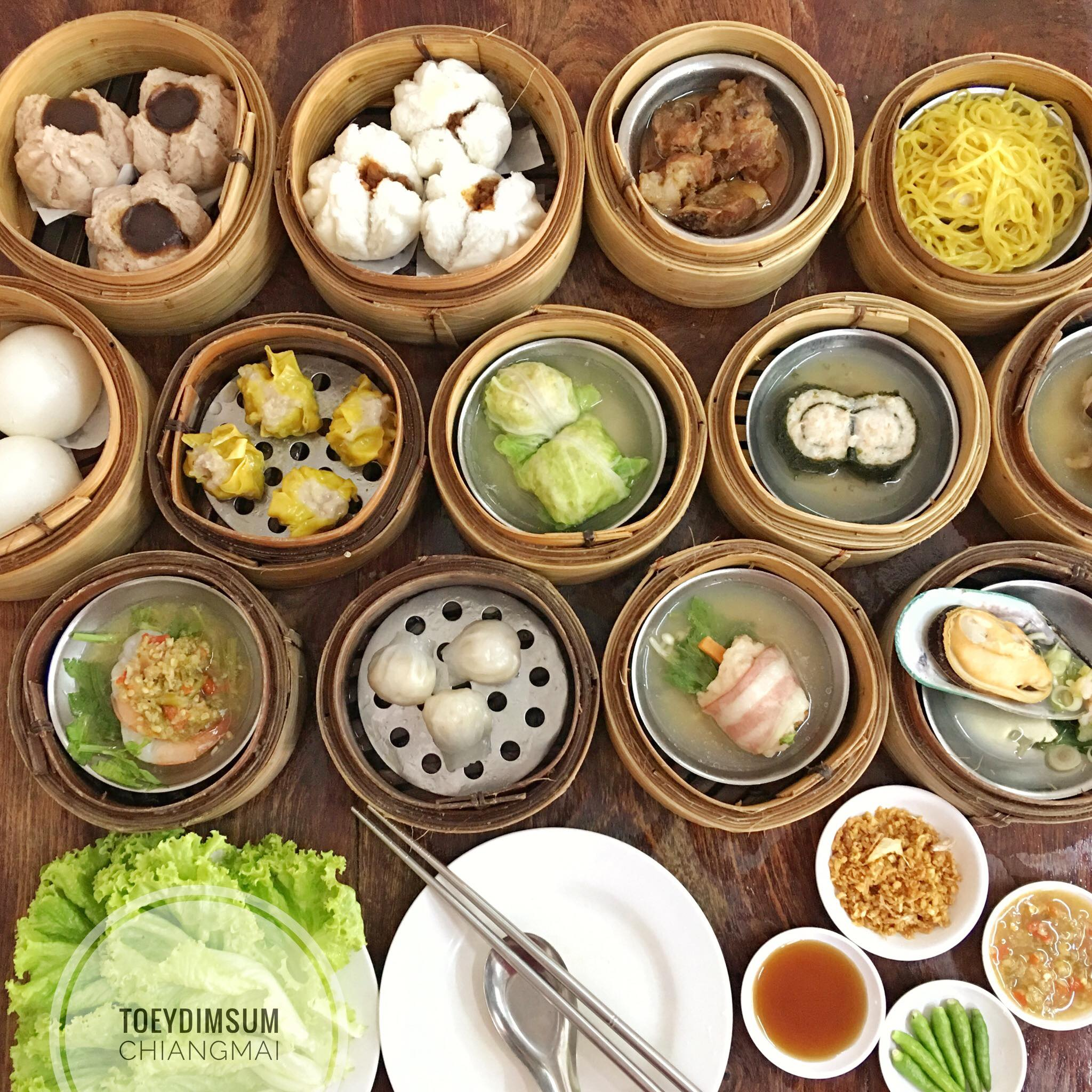 Best dim sum restaurants in Chiang Mai, Thailand.